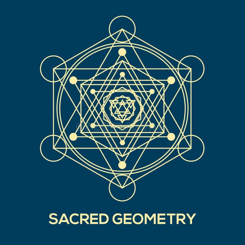 Heilige Geometrie Hippie-Symbole und -elemente lizenzfreie abbildung