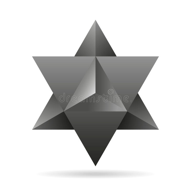 Heilige Geometrie merkaba dünne Linie geometrische Dreieckform lizenzfreie abbildung