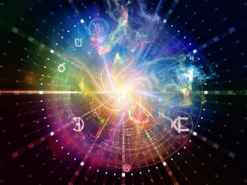 Heilige Geometrie-Synergie lizenzfreie abbildung