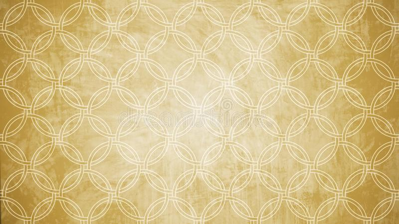 Heilige Geometriekreisstempel-Musterform auf Wandmuster textu lizenzfreies stockbild