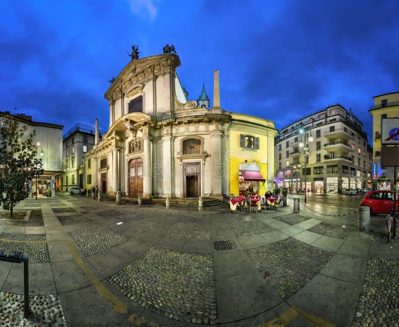 Heilige George Church (Chiesa San Giorgio al Palazzo) royalty-vrije stock afbeelding