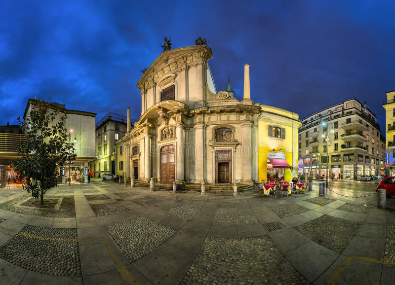 Heilige George Church (Chiesa San Giorgio al Palazzo) royalty-vrije stock foto