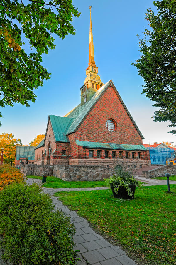 Heilige George Church in Mariehamn, Aland, Finland stock fotografie