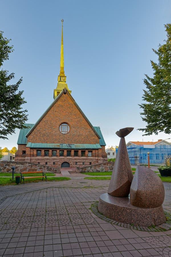 Heilige George Church in Mariehamn, Aland, Finland stock foto's