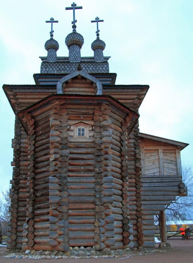 Heilige George Church in vroeger koninklijk landgoed Kolomenskoye stock foto's