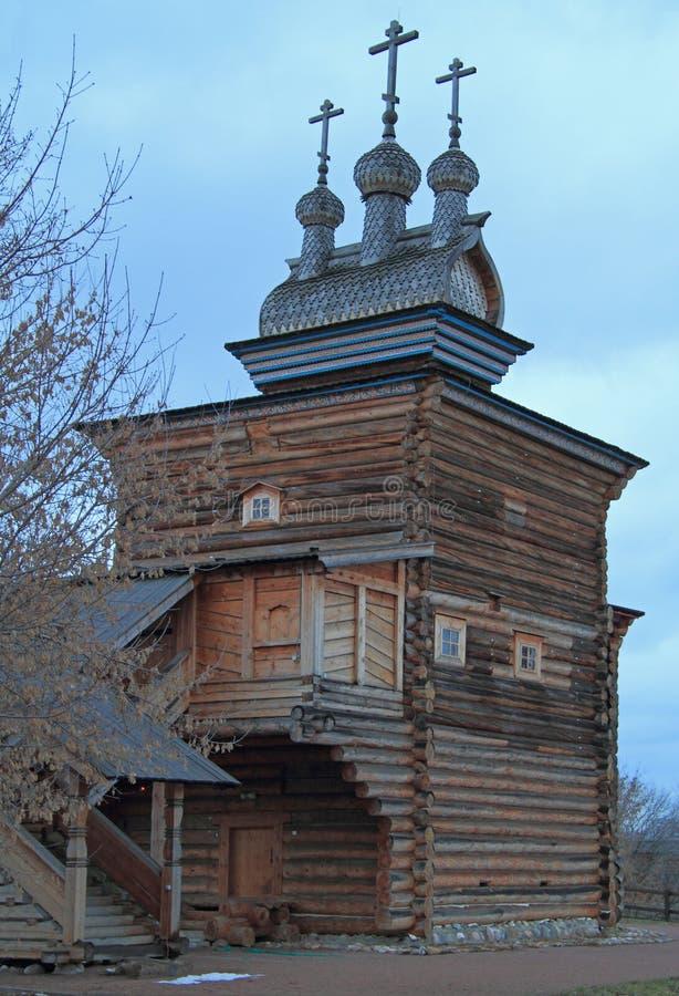Heilige George Church in vroeger koninklijk landgoed Kolomenskoye stock fotografie