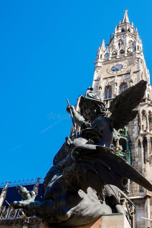 Heilige George Munich royalty-vrije stock afbeeldingen