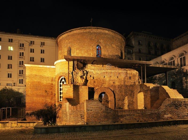 Heilige George Rotunda in Sofia bulgarije stock fotografie