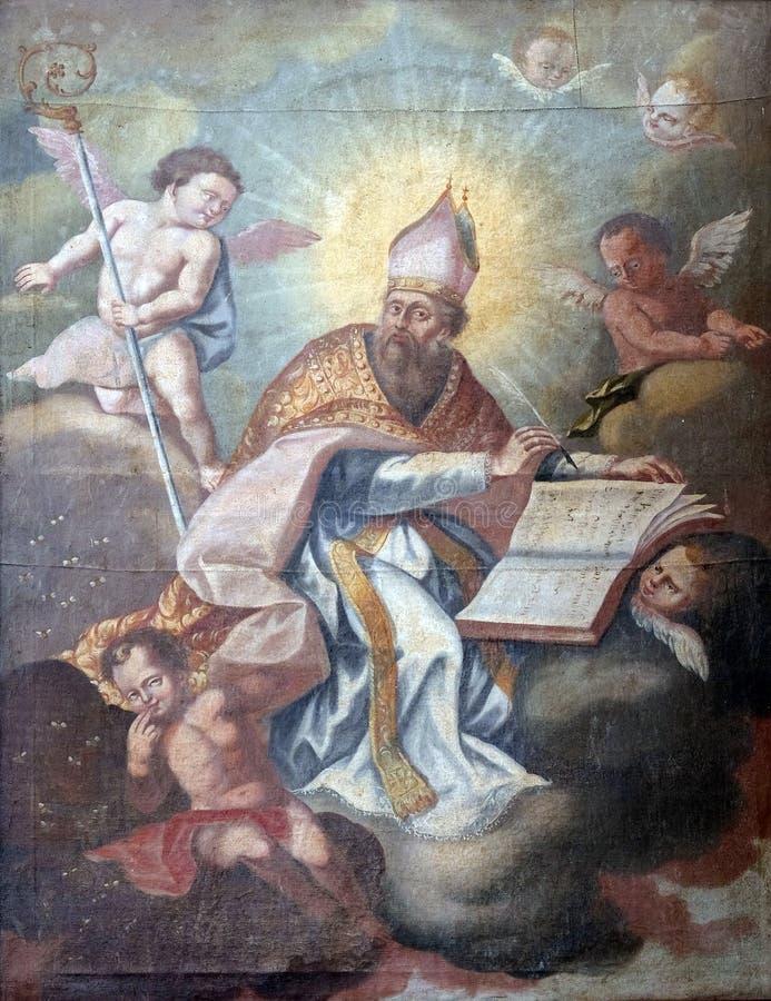 Heilige Gregory stock afbeeldingen