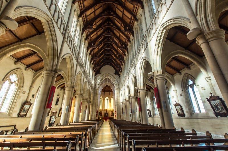 Heilige Hartkathedraal in Bendigo, Australië stock afbeeldingen