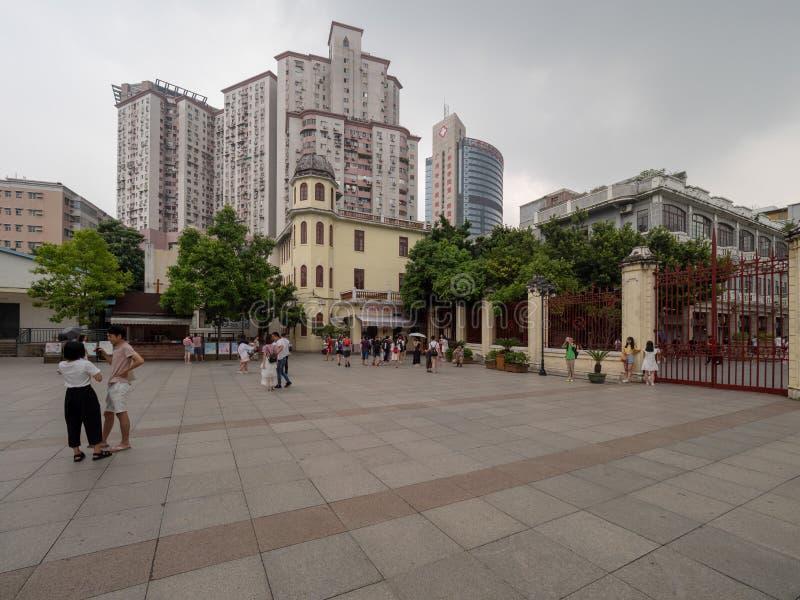 Heilige Hartkathedraal in Guangzhou, China stock afbeelding