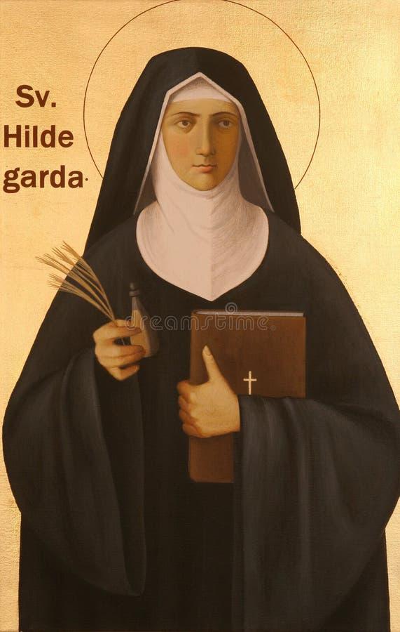 Heilige Hildegard von Bingen royalty-vrije stock afbeelding