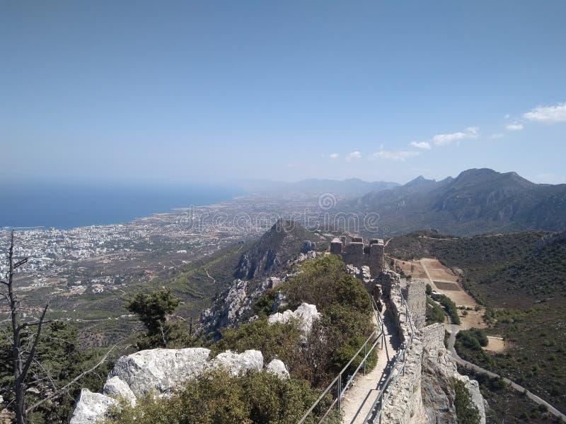 Heilige Illarione cyprus stock fotografie