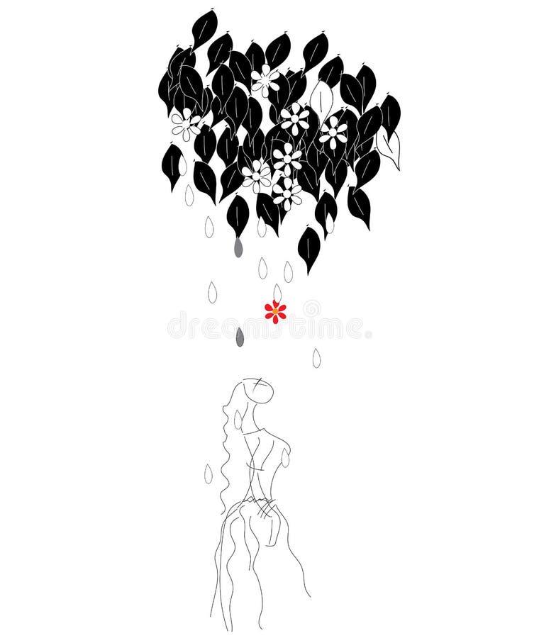 Heilige - Indisch art. stock illustratie