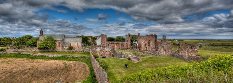 Heilige Insel Northumberland, Großbritannien Lindisfarne lizenzfreie stockfotografie