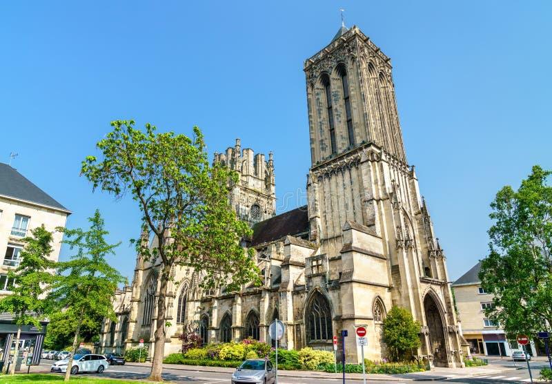 Heilige Jean Church in Caen, Frankrijk stock fotografie