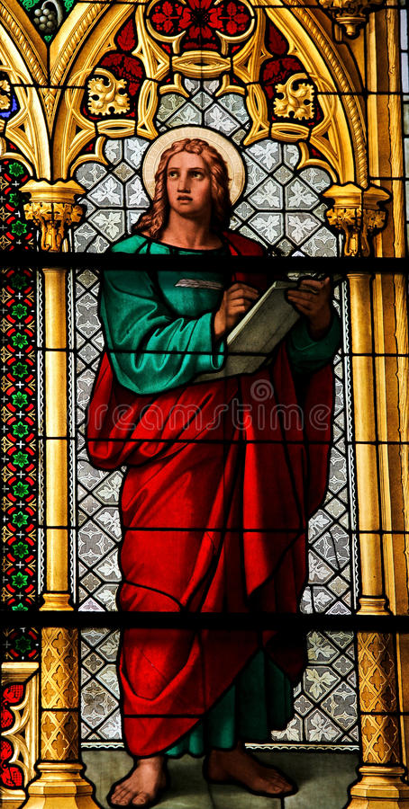 Heilige John de Evangelist stock foto's