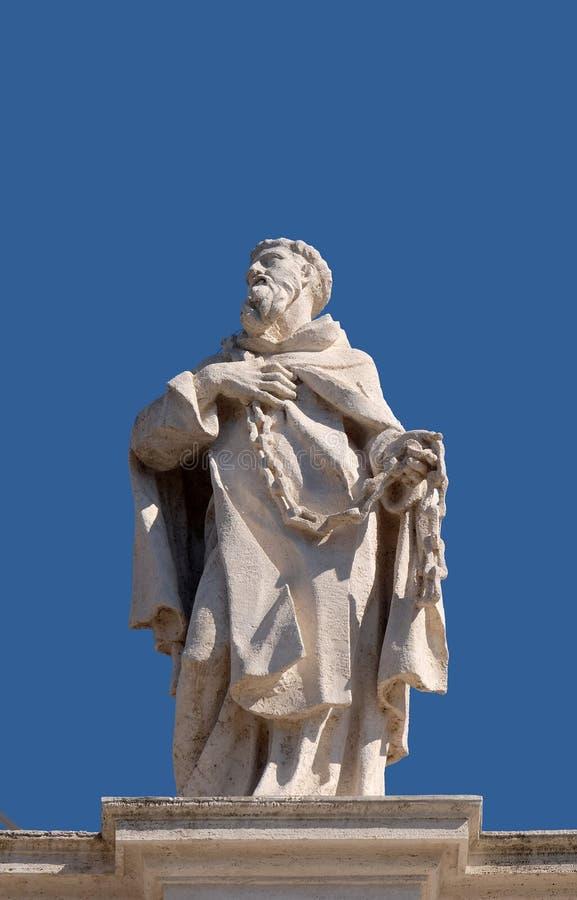 Heilige John van Matha stock afbeelding