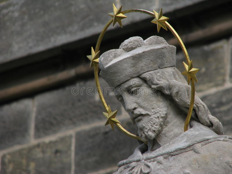 Heilige John van Nepomuk stock afbeeldingen