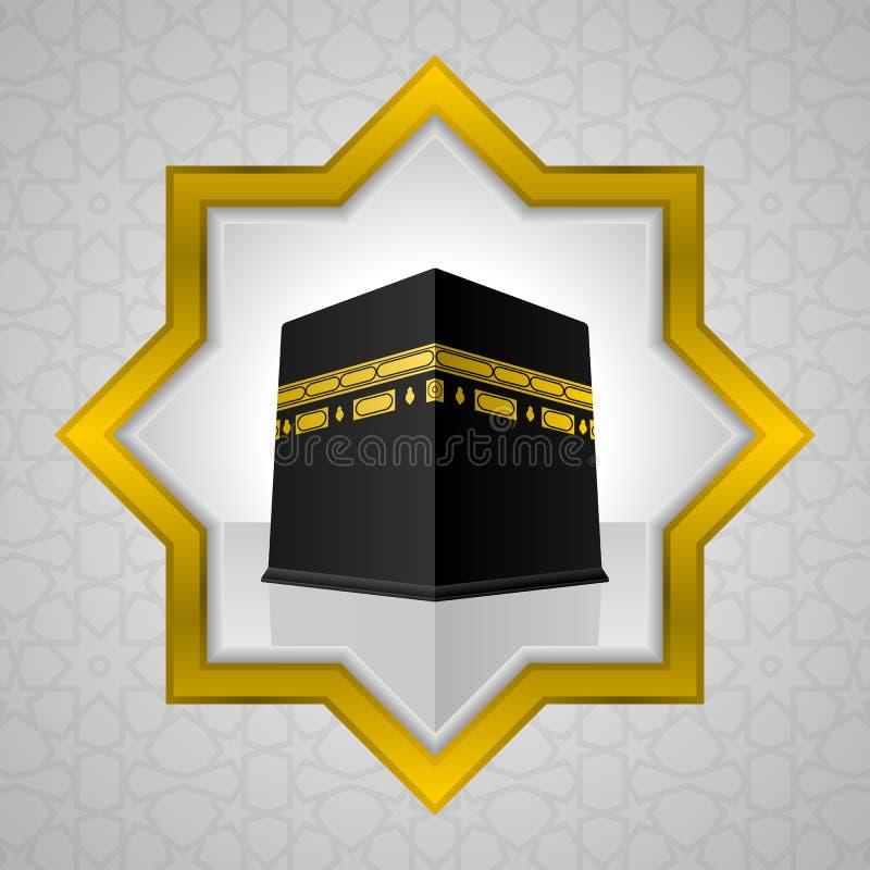 Heilige Kaaba-illustratie, Islamitisch ontwerp stock illustratie