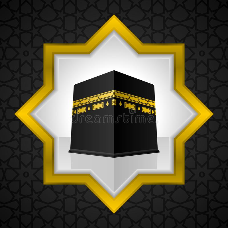 Heilige Kaaba-illustratie, Islamitisch ontwerp royalty-vrije illustratie