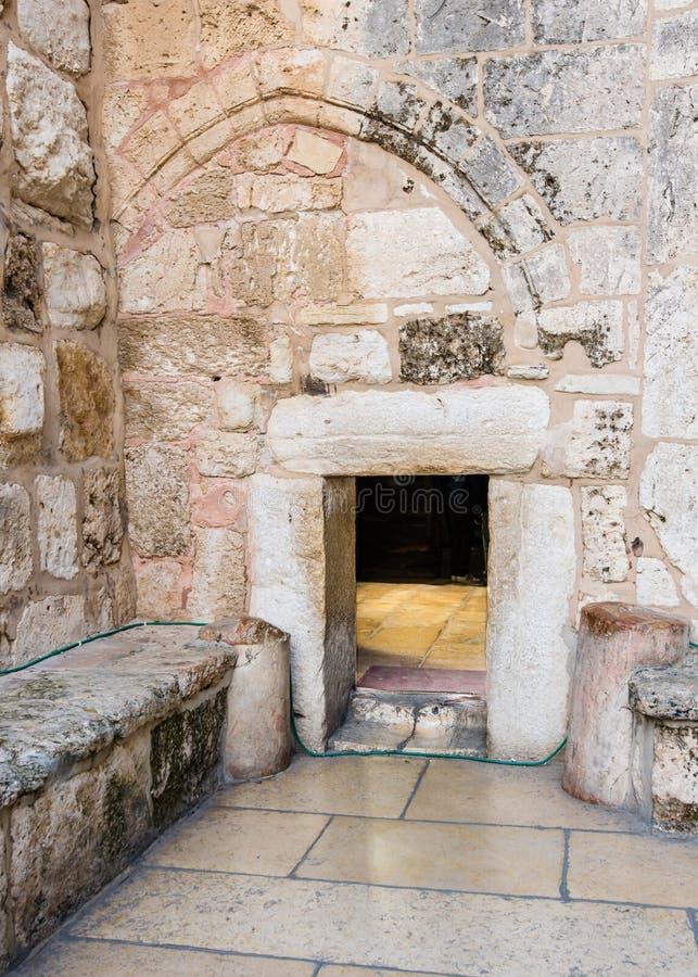 Heilige Kerk van de Geboorte van Christus, Bethlehem, Israël stock foto's
