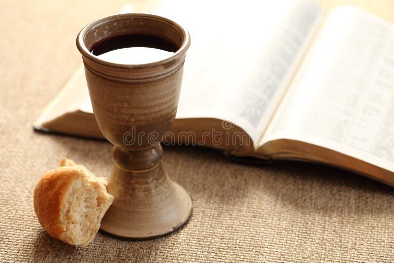 Heilige Kommunion stockfoto