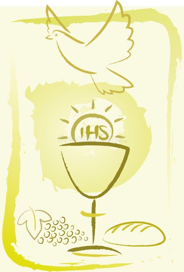 heilige kommunion hintergrund vektor abbildung illustration von spiritus kirche 27815290. Black Bedroom Furniture Sets. Home Design Ideas