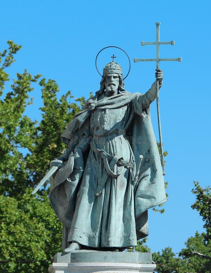 Heilige & Koning in Vierkant Boedapest Hongarije van de Held royalty-vrije stock afbeeldingen