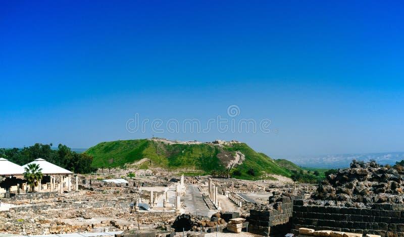 Heilige landreeks - Beit Shean ruins#1 royalty-vrije stock afbeelding