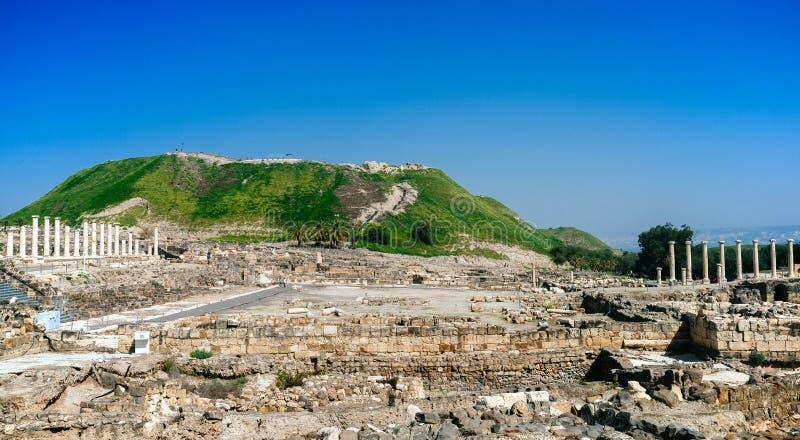 Heilige landreeks - Beit Shean ruins#4 stock foto's