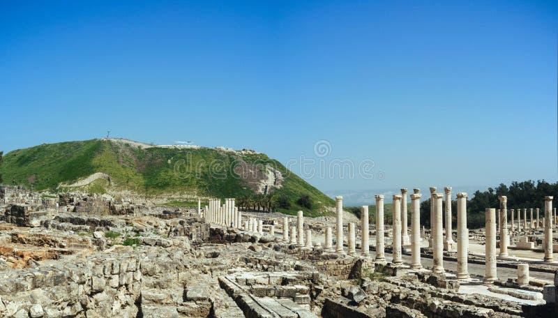 Heilige landreeks - Beit Shean ruins#5 stock fotografie