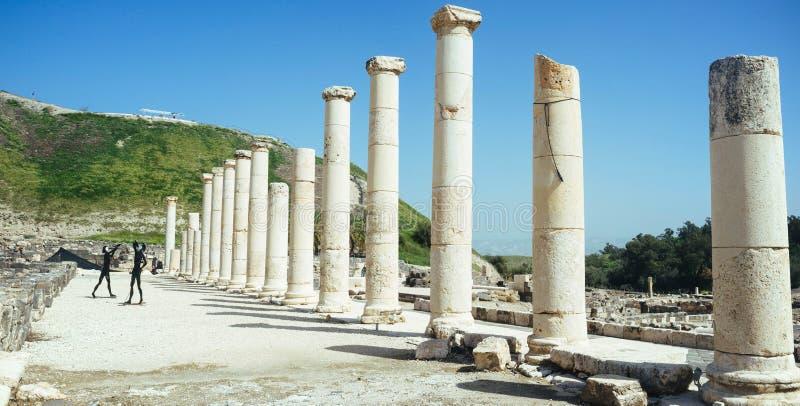 Heilige landreeks - Beit Shean ruins#7 royalty-vrije stock afbeelding