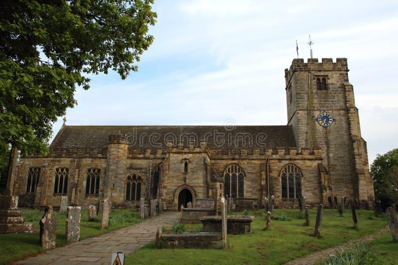 Heilige Laurence Church Hawkhurst, Sussex stock afbeelding