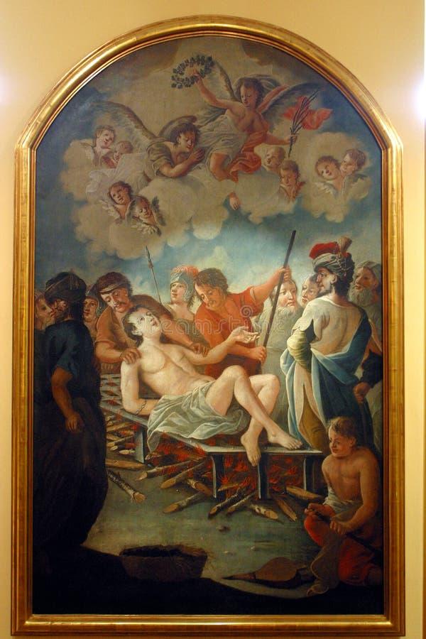 Heilige Lawrence van Rome stock fotografie