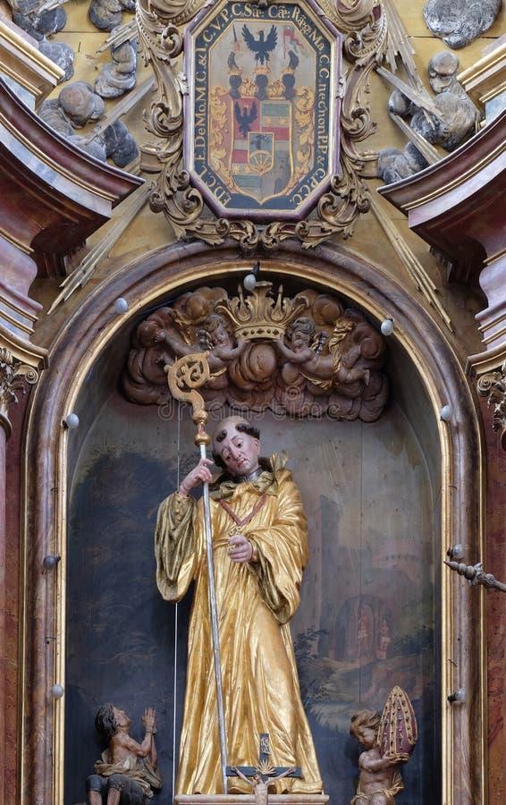Heilige Leonard van Noblac royalty-vrije stock afbeeldingen