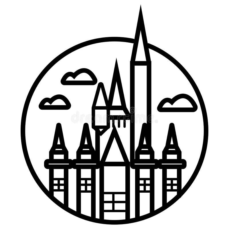 Heilige Louis Cathedral in het Franse Kwart in New Orleans royalty-vrije illustratie