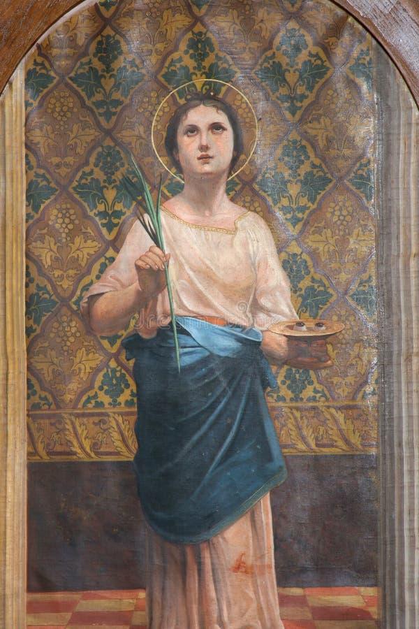 Heilige Lucia stockbilder