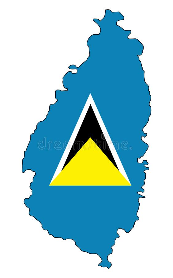 Heilige Lucia Karte der St. Lucia-Vektorillustration stock abbildung