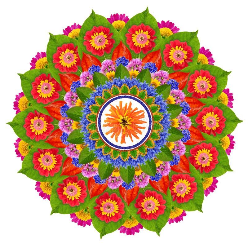 Heilige mandala van Zonlotus stock afbeeldingen