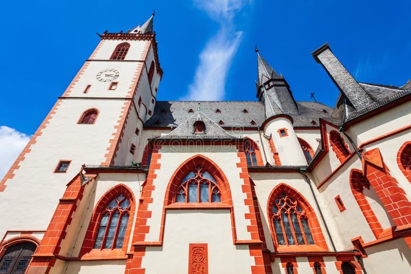 Heilige Martin Basilica in Bingen stock foto's