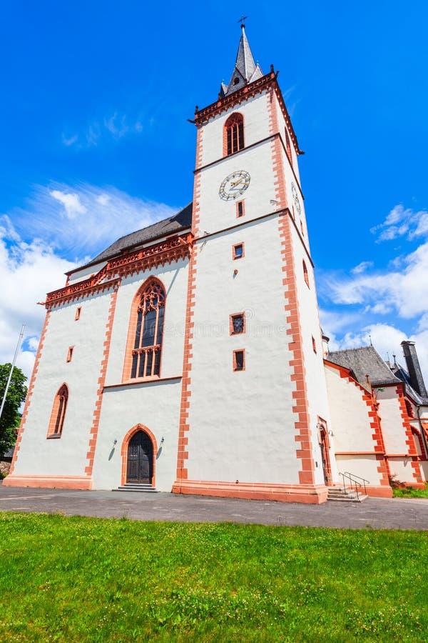 Heilige Martin Basilica in Bingen royalty-vrije stock foto's