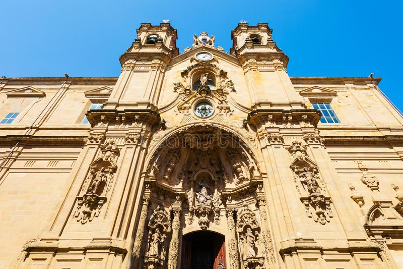 Heilige Mary Church, San Sebastian stock afbeelding