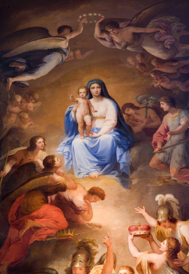 Heilige Mary in de Hemel van Wenen stock afbeelding