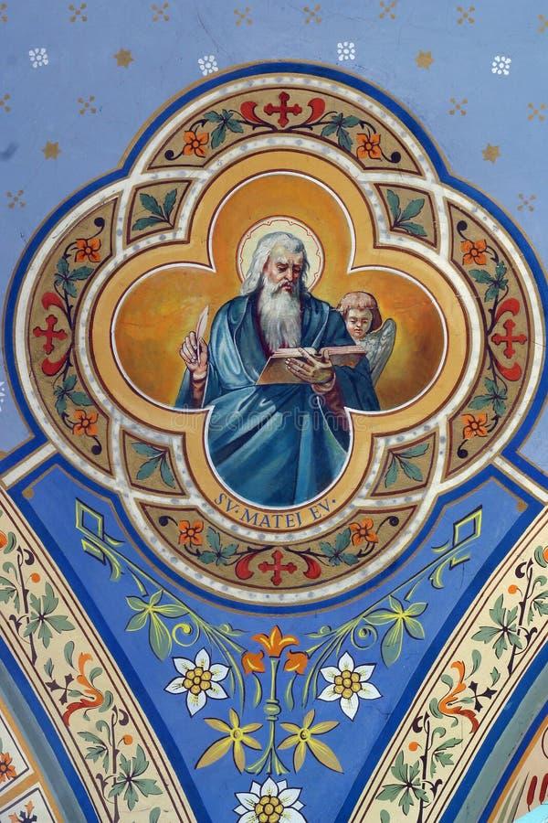 Heilige Matthew de Evangelist stock fotografie