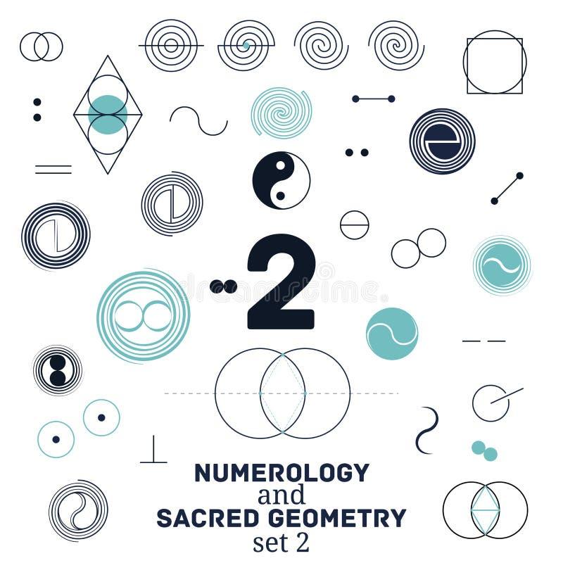 Heilige meetkunde en numerologysymbolen vectorillustratie vector illustratie
