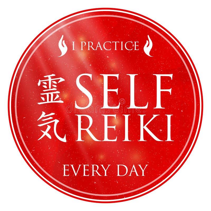 Heilige Meetkunde Het symbool van Reiki royalty-vrije illustratie