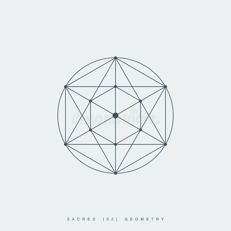 Heilige meetkunde, metatron esoterisch symbool vector illustratie