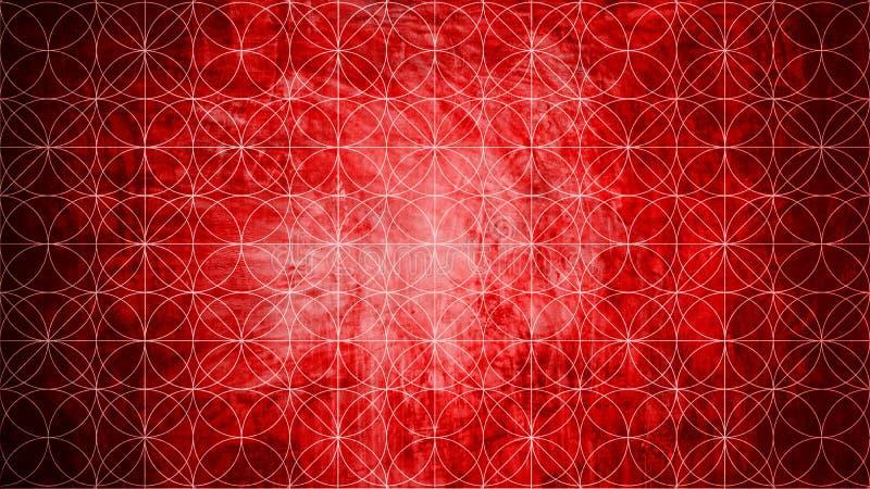 Heilige meetkunde in patroonvorm op oude document textuur aangaande royalty-vrije illustratie