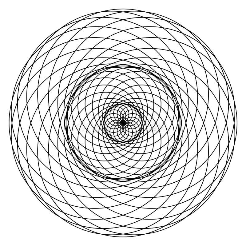 Heilige Meetkundetorus Yantra of Hypnotic vectorillustratie van de Oogontwikkeling vector illustratie